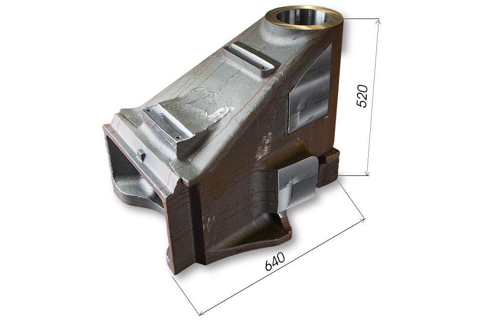 【品名】BRACKET 【材質】SC450 【サイズ】640*520 L500(240Kg)